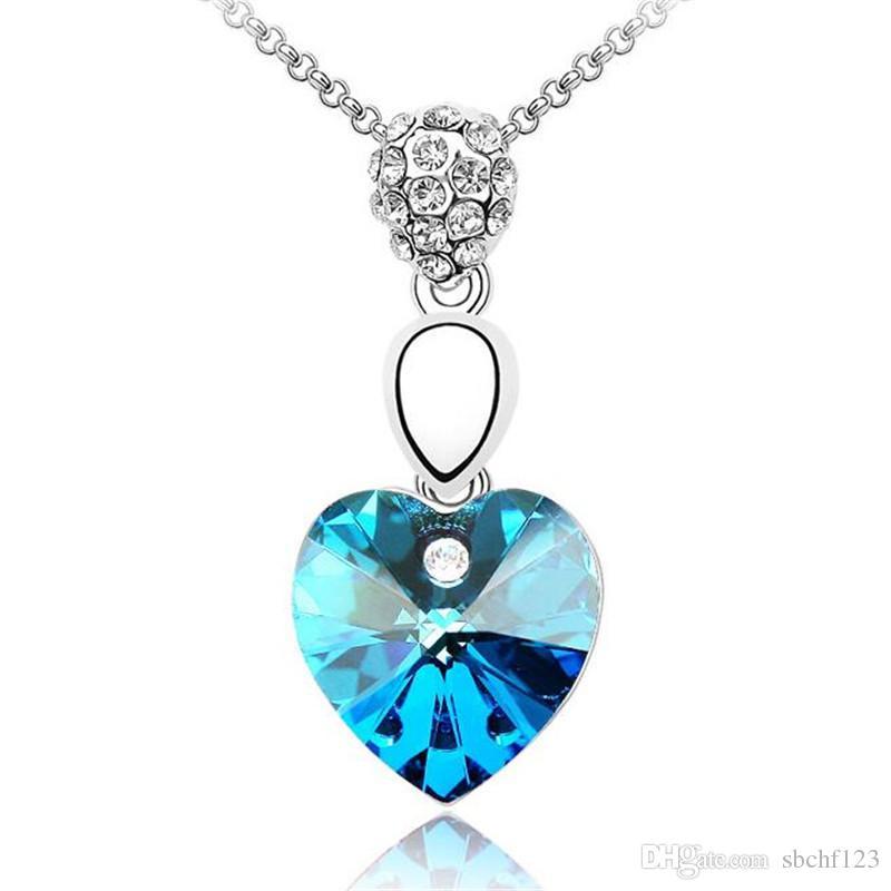 Кристаллы Сердце ожерелье Красивая партия женщин ювелирных изделий способа Сделано с кристаллами от Swarovski Elements 1097