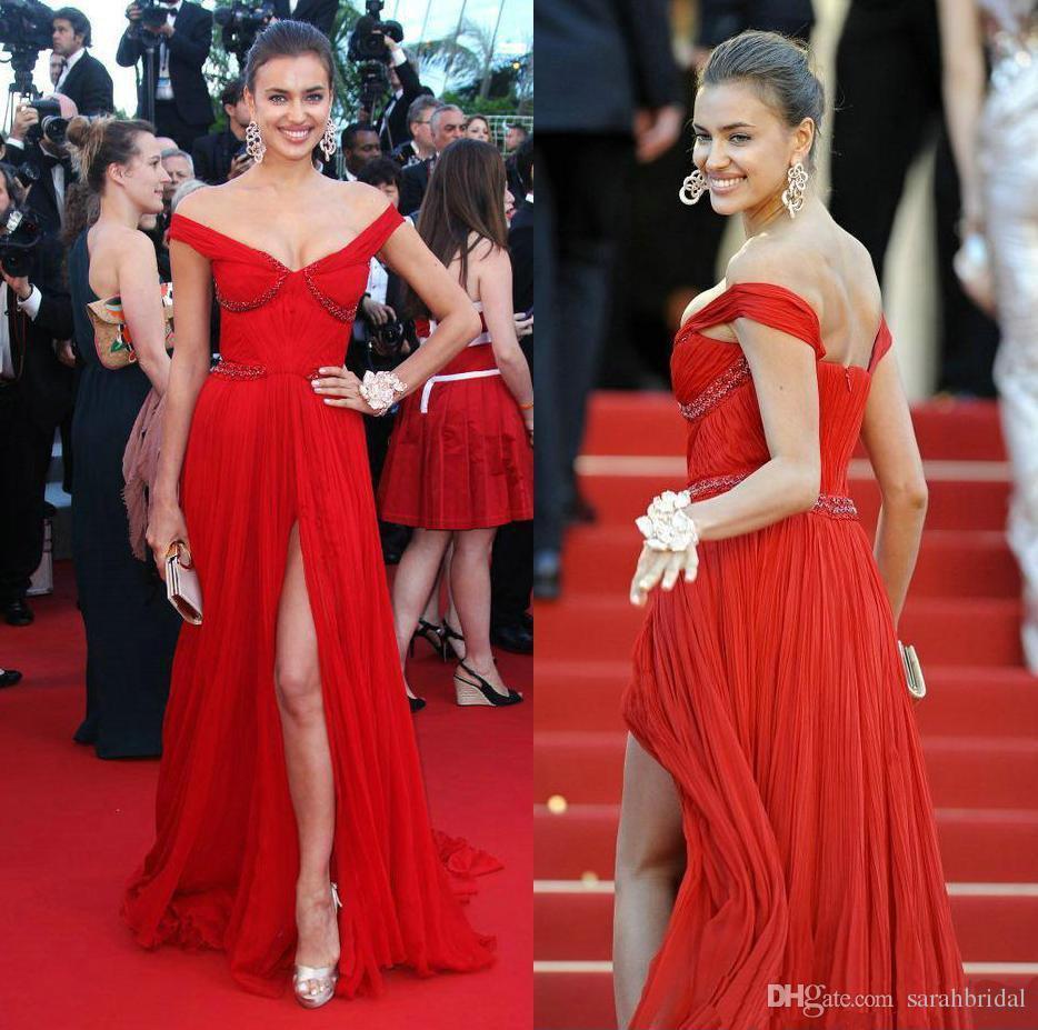 Großhandel V Ausschnitt Red Elegante Kleider Öffnen Zurück Promi Land  Sparkling Kleid Runway 12 Schwangere Bescheidene High Slit Kleider