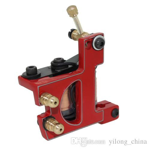 Top Quality Cast Iron Coil Tattoo Machine 10 Warps Coil Handmade Tattoo Machine For Liner And Shader Free Shipping