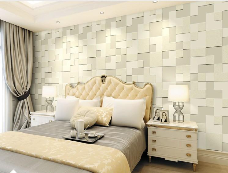 Beibehang Modern Home Decor 3D Wallpaper Bedroom Living Room TV ...