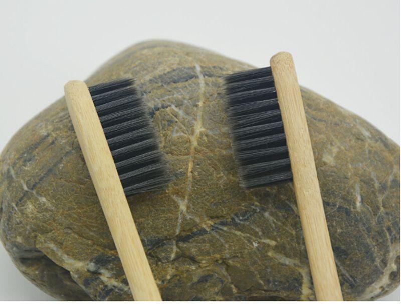 Envío gratuito 100 pcs Cepillo de dientes de bambú personalizado Limpiador de lengua Dentadura dental Kit de viaje Cepillo de dientes