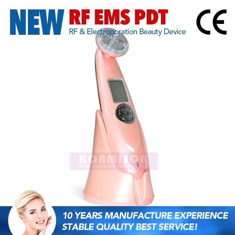 4 In 1 충전식 갈바니 LED 피부 젊 어 짐 RF 기계 피부 젊 어 짐에 대 한 얼굴 리프팅 주름 제거 RF 아름다움 장비
