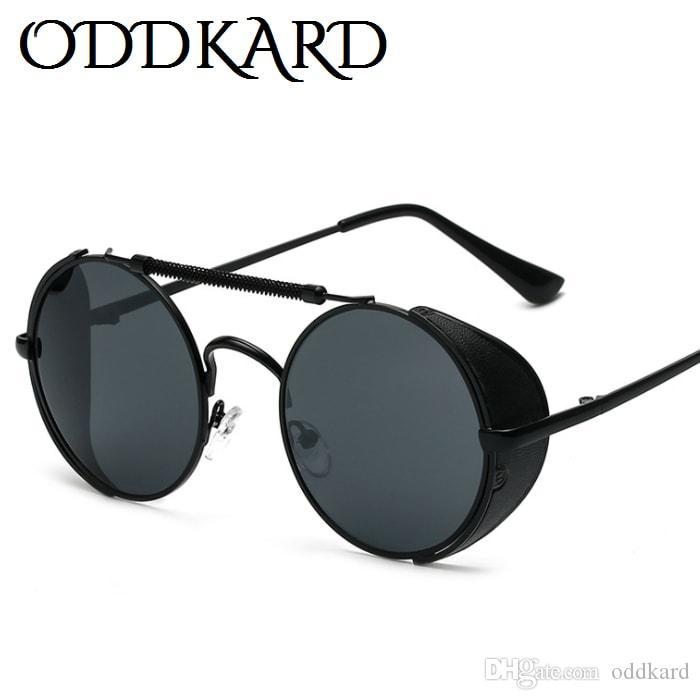 ODDKARD كلاسيك Steampunk نظارات شمسية للرجال والنساء العلامة التجارية مصمم جولة موضة نظارات شمس oculos de sol UV400