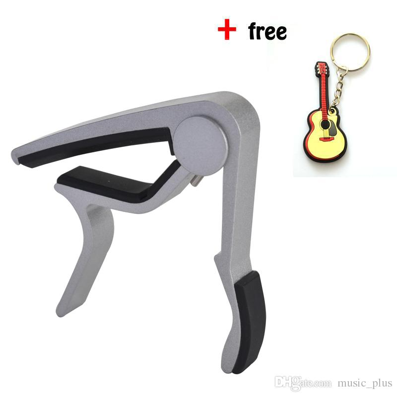 Silver Guitar Capo - Musicians Recommended Capo for Acoustic,Electric Guitar - Perfect for Banjo and Ukulele -Aluminum