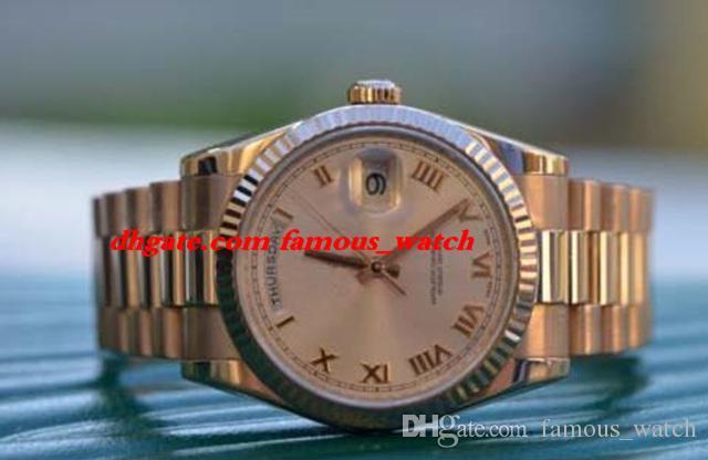 Neue Mode Luxus Edelstahl Armband MINT 18 Karat Roségold Box Papiere 118235F Männer Uhr 36mm automatische mechanische Bewegung Mann beobachten