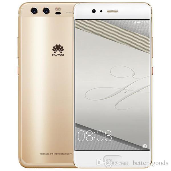 """원래 Huawei P10 4G LTE 휴대 전화 4GB RAM 64GB 128GB ROM Kirin 960 Octa Core Android 5.1 """"2.5D 화면 20.0MP NFC 지문 ID 3200mAh 스마트 휴대 전화"""