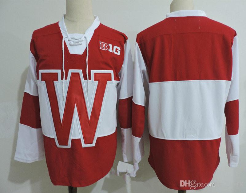 premium selection 814d1 9d3f6 2019 Mens Custom NCAA Wisconsin Badgers Hockey Jersey Seamus Malone Trent  Frederic Cameron Hughes Ryan Wagner Jake Linhart CHRIS CHELIOS Jersey From  ...
