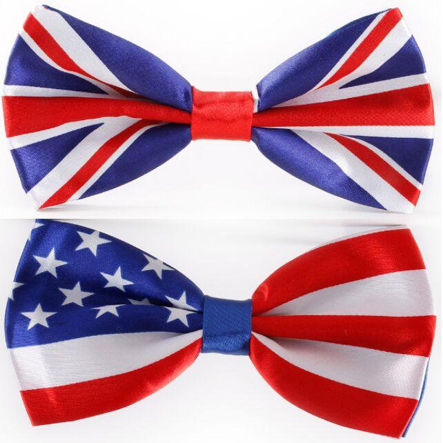 Мода галстук-бабочка американский флаг галстук-бабочка ВЕЛИКОБРИТАНИЯ Юнион Джек британский флаг галстук-бабочка 6 * 12 см бантом на рождественский подарок галстук