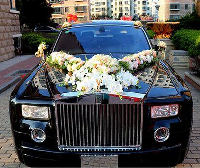 2018 luxurious wedding car decoration supplies wedding car luxurious wedding car decoration supplies wedding car decoration set high artificial wedding car flowers junglespirit Choice Image