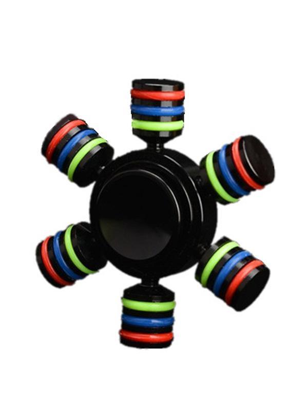 Yeni üç-el El spinner parmak uçları gyro altıgen tekerlek 3 kafa 6 kol Parmak gyro Oyuncaklar Bakır metal spinner