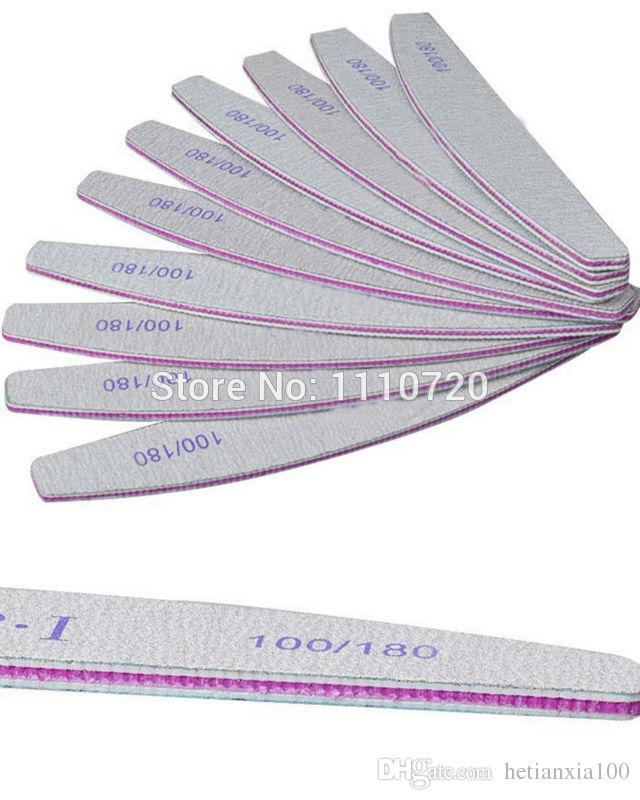 Spedizione gratuita Grigio ACR Nail File Buffer 100/180 Strumenti Manicure