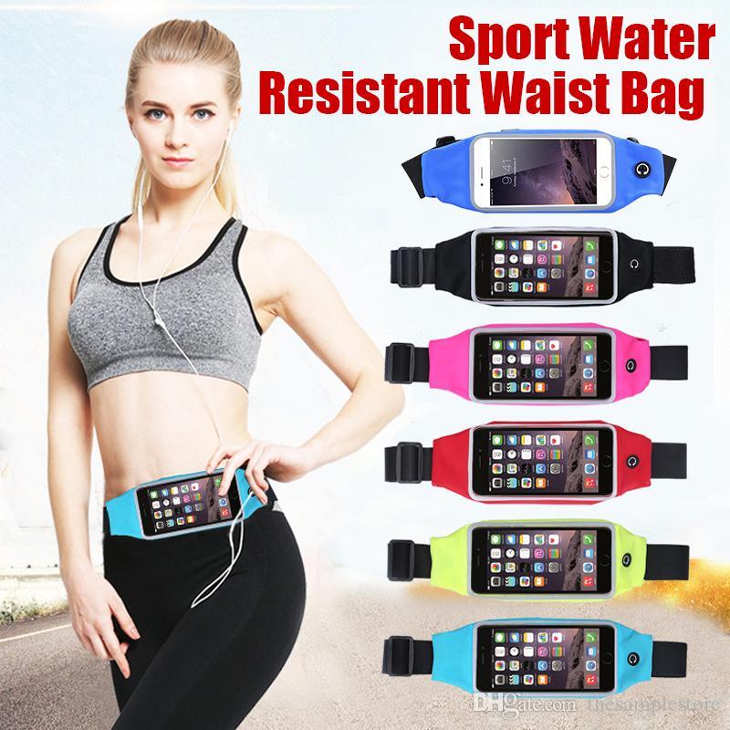 هاتف مقاوم للماء في الهواء الطلق حالة تشغيل مقاومة المياه الرياضة حقيبة الخصر للهواتف الذكية الروبوت الهاتف بوصة دي إتش إل الشحن المجاني
