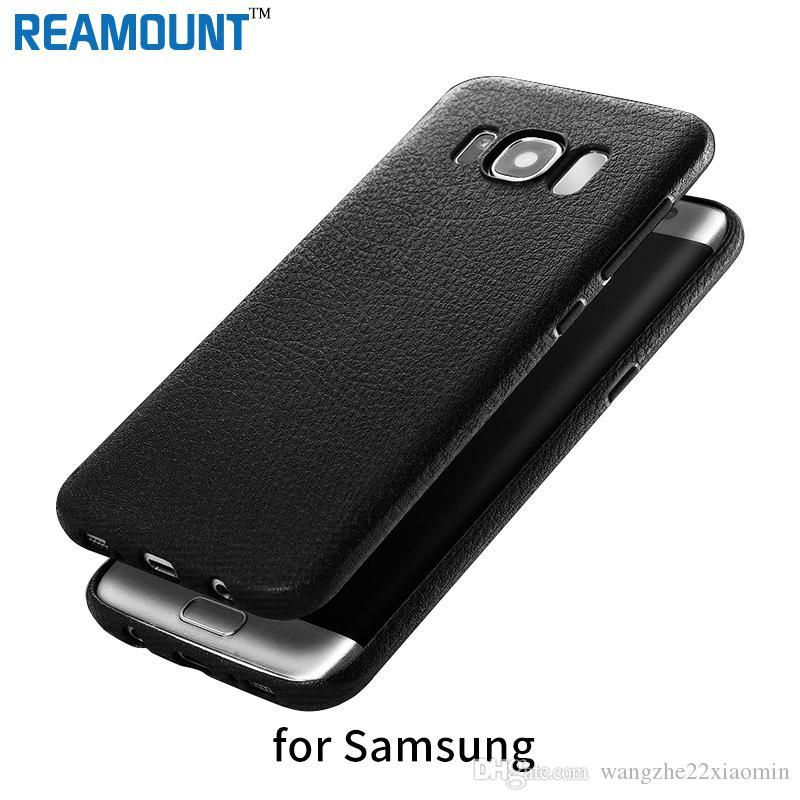 Custodia morbida in pelle stile moda TPU per Samsung s8 s8plus Custodia protettiva per telefono cellulare