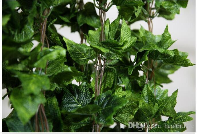 Wholesale 20PCS like real artificial Silk grape leaf garland faux vine Ivy home decor wedding flower green
