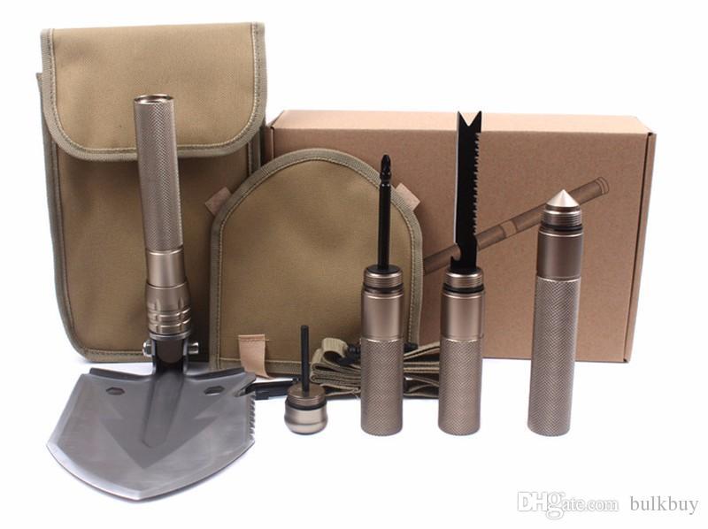Nuevo Estilo Profesional Militar Tactical Multifunción Pala Acampar Al Aire Libre Supervivencia Plegable Spade Tool Equipment al por mayor