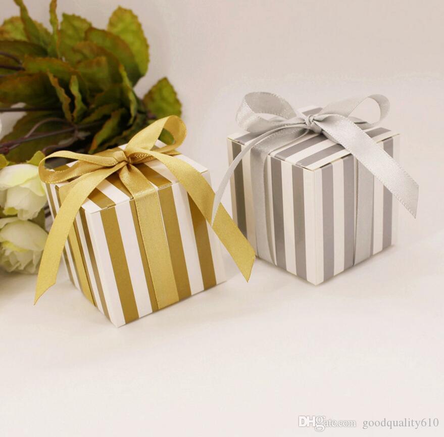 Scatole del cioccolato della banda di Candy della banda del cartone 100pcs per il regalo di favore della doccia di nozze della festa nuziale