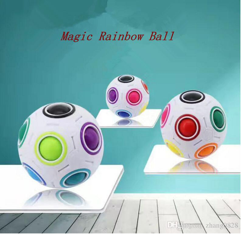 Rainbow Ball Magic Cube Speed Football Fun Creative Spherical Puzzles Kids Educational Learning Toy game for Children Adult Gifts