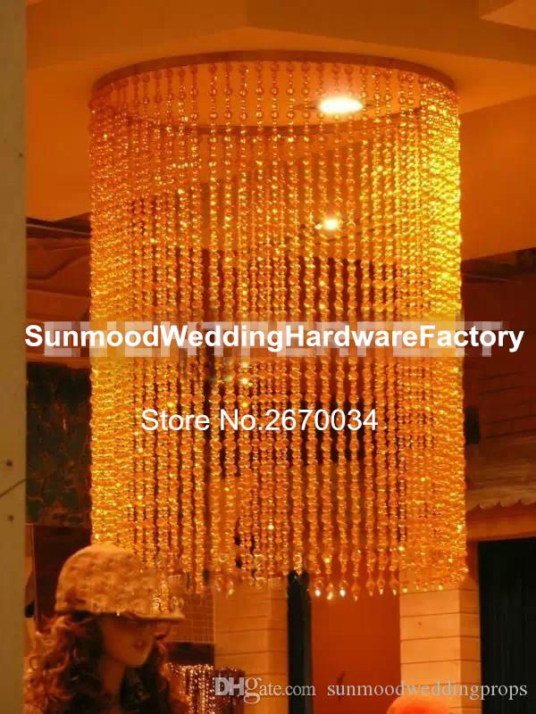 Hangging Only For Wedding Hall Crystal Chandelier Table Decorations Flower Stand Centerpieces