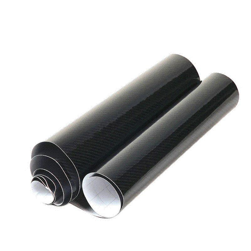 50x200cm DIY Car Sticker 5D Carbon High Glossy Film Vinyl Wrapping Auto Carbon Fiber Vinyl Film Fibra de Carbono Black