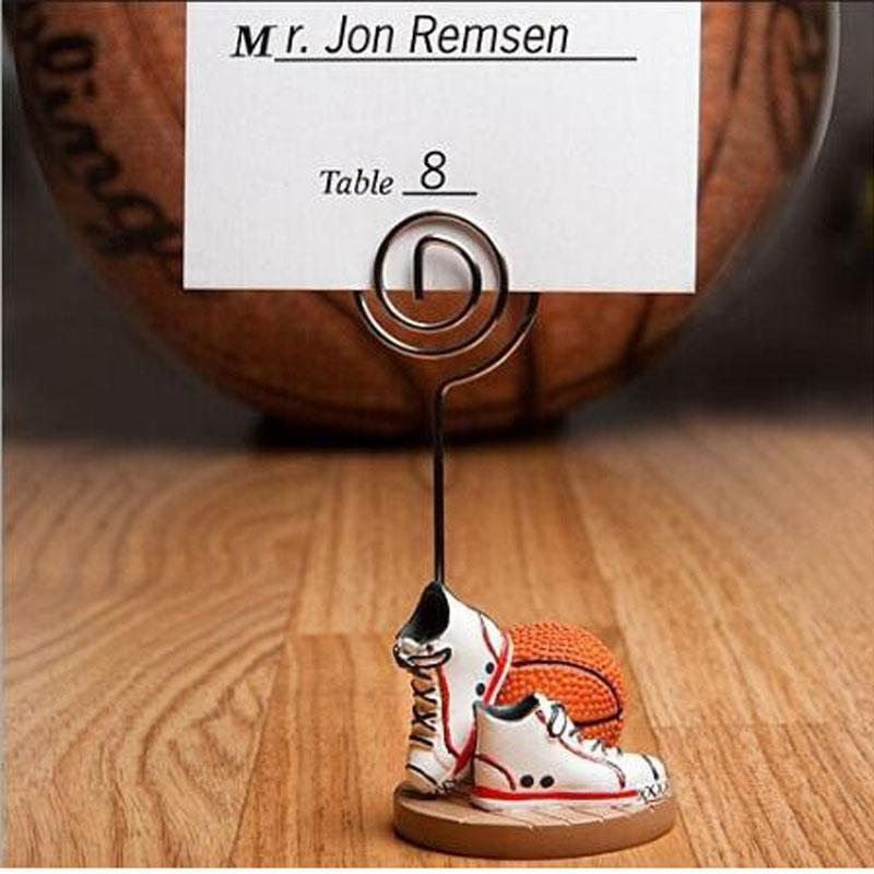 100pcs/lot wedding party decoration -- Basketball or football Themed shoes Place name Card Holders Sport Theme By DHL Free