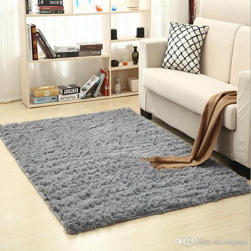 Non Slip Carpet Fluffy Rugs Anti Skid Shaggy Area Rug Dining Room Home  Bedroom Carpet Living Room Carpets Floor Yoga Mat Carpet Installation ...
