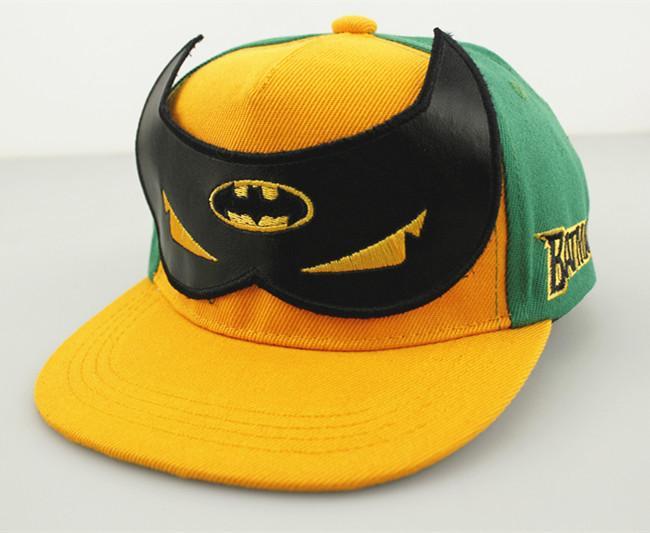 New Unisex Superman Batman Metal Adjustable Baseball Snapback Hip-hop Hat Cap