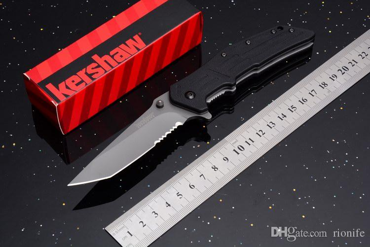 Wholesale Kershaw 1985 1985ST 5Cr13Mov 58HRC STEEL G10 handle Camping Survival Folding Knife 1830 1730SS Outdoor Military Utility EDC Tools