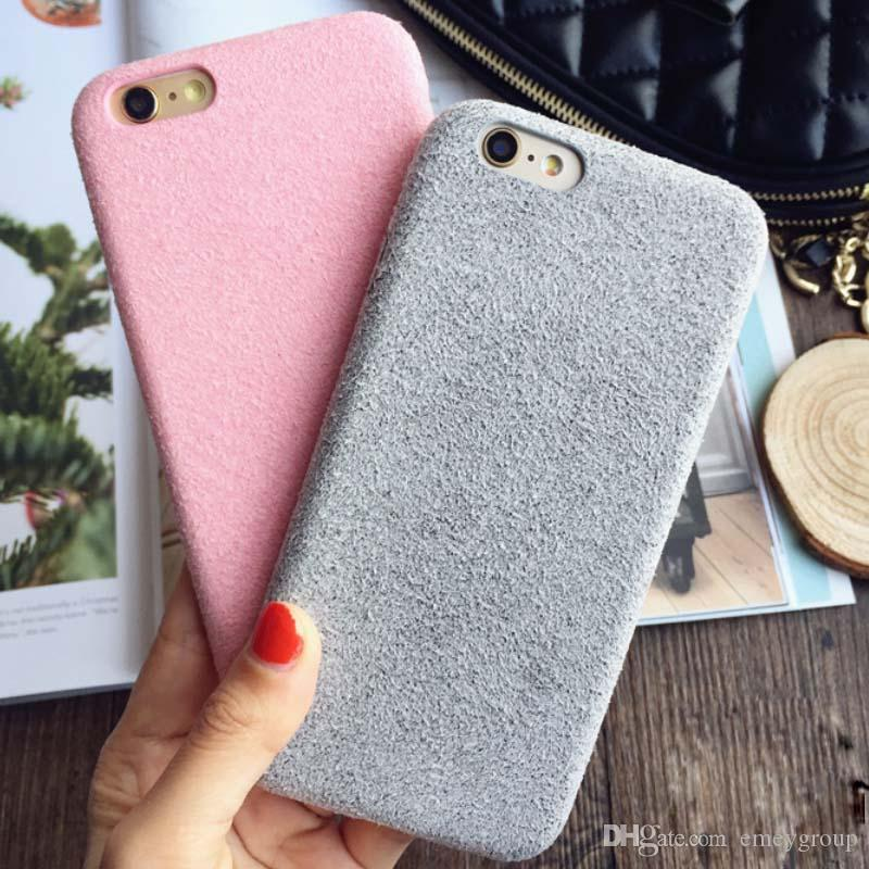 8bf9afb7486 For iPhone 7 7Plus Plush Cases For iPhone 6 6S Plus Dirt-Resistant  Shockproof Protective Short Velvet Back Cover Capa Fundas carton