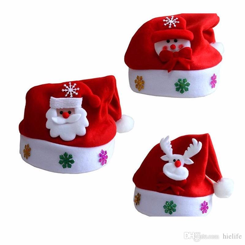 Kid Cheer Christmas Elk Hat Children Santa Claus Reindeer Snowman Party Cute Children Cap wedding decoration