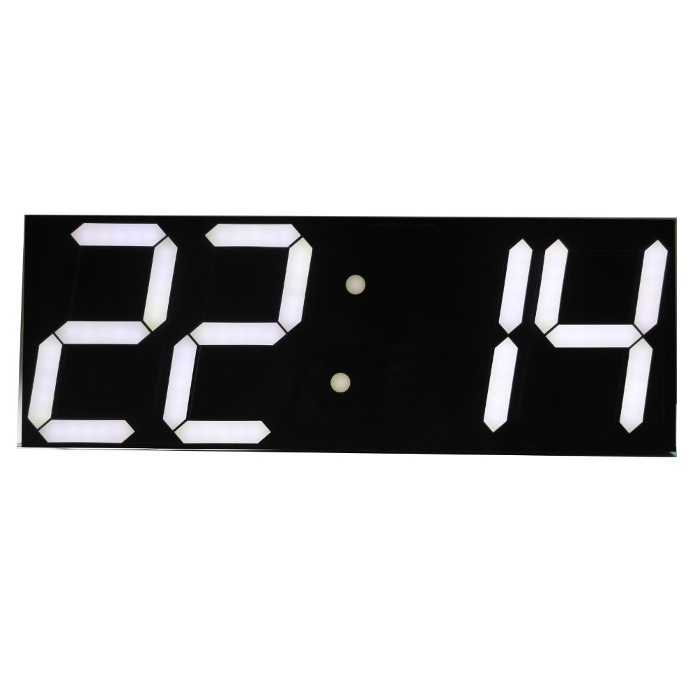 Wholesale- Free shipping Large Digital Wall Clock LED Display Remote Control Countdown Alarm Clock Stopwatch Modern Design Big
