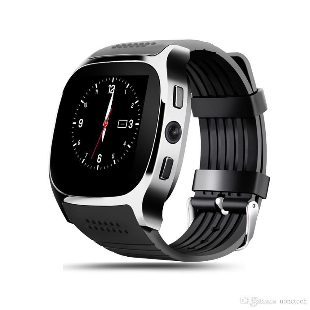 For Android T8 Bluetooth Smart watch Pedometer SIM TF Card With Camera Sync Call Message Smartwatch pk DZ09 U8 Q18