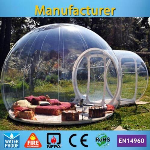 Бесплатная доставка Свободно Вентилятор Надувного пузырь дом 3M / 4M / 5M Dia Открытого Bubble Палатка для кемпинга ПВХ Bubble Tree Tent / Igloo Палатки Hot
