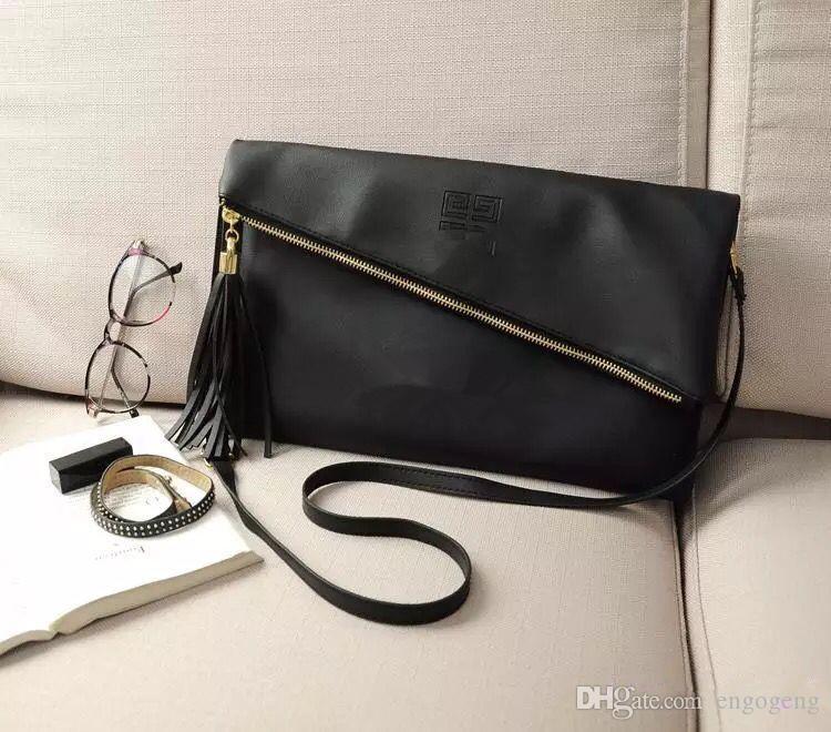 Bolsa Opção PU Ombro Padrão Color Bag Makeup Bag Tassel G 2 Htkjb