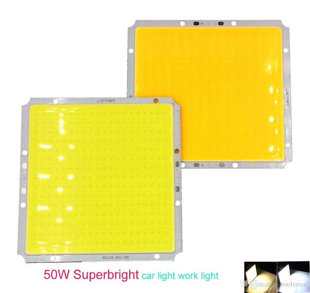 5 adet / lot COB Modülü Sıcak beyaz Soğuk beyaz 100x95mm 50W DC 12V DIY LED Chip Matrix Lambası Ampul LED 100MM Işıklar