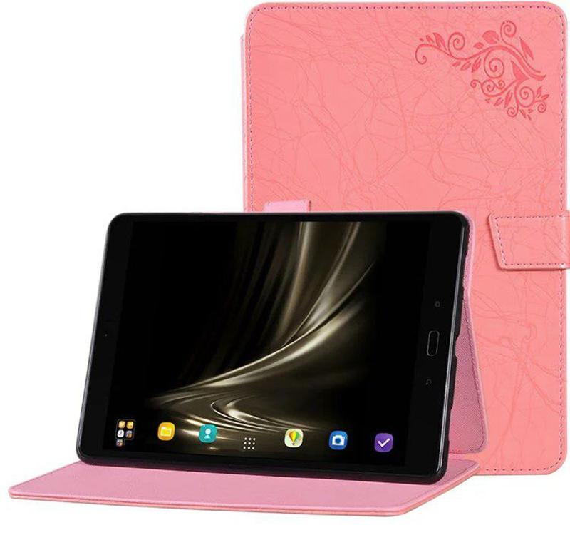100pcs Luxury Print Flower PU Leather Case Cover for Asus Zenpad 3 8.0 Z581KL 8 inch Tablet with TPU + Stylus Pen