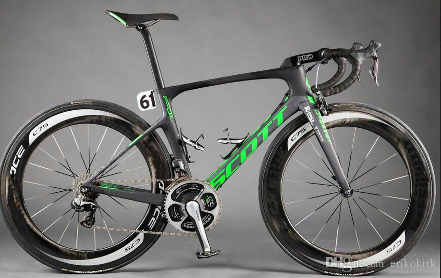 2019 Black Foil Carbon Road complete Bicycle Bikes with Original R7000 groupset+50mm 88mm Carbon Road Wheelset