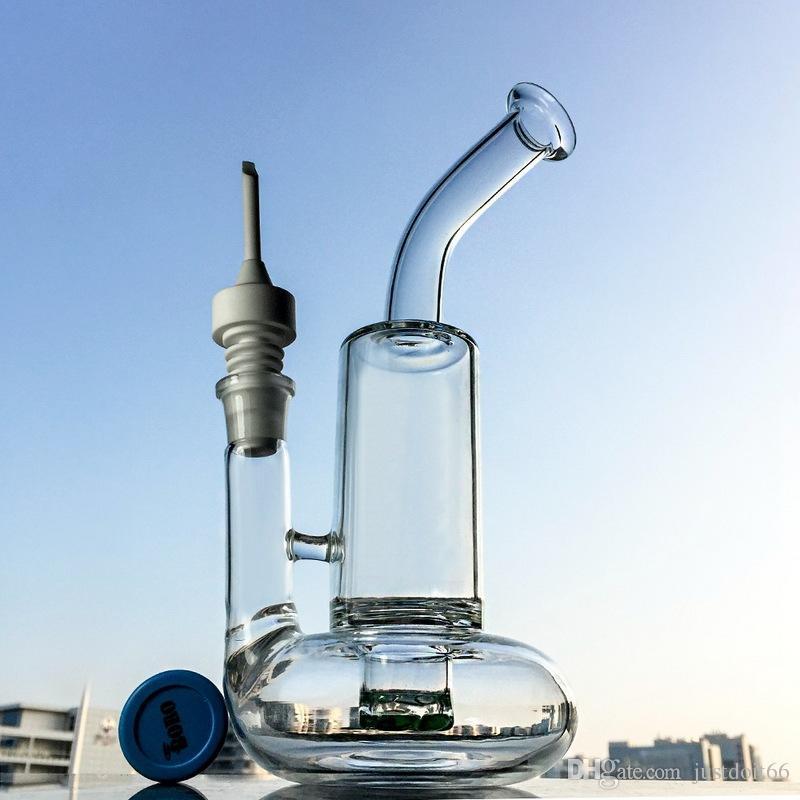 Vert Tuibine Perc verre d'eau Bongs Deux Fonction Tornado huile Rigs Perc Smoking verre Bongs 4 mm d'épaisseur WP146-3