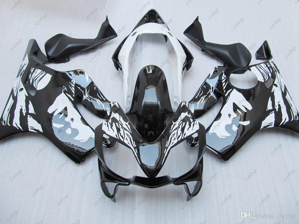 Kits de carrocería CBR600 F4i 06 07 Kits de carenado para Honda Cbr600 2004 Black White CHICA ABS Carenado CBR F4i 2006 2003 - 2007