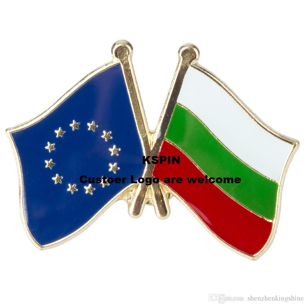 Pin 10pcs della bandiera del distintivo della bandierina della Bulgaria dell'Unione Europea molto trasporto libero XY0074-3