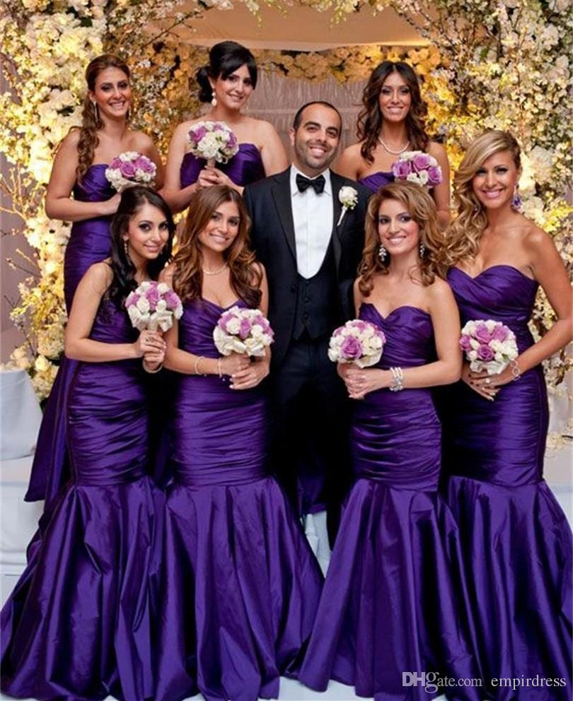 Deep Purple Bridesmaids Dresses Images - Braidsmaid Dress, Cocktail ...