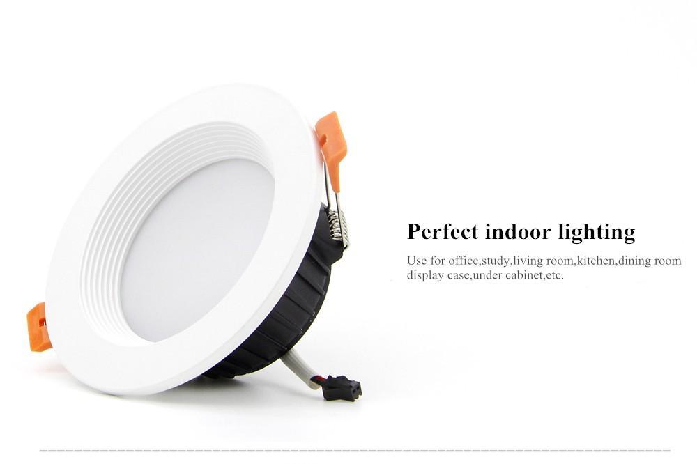 [DBF] AC85-265V LED Down lights 7W 10W 12W LED Downlight Warm whitecold white Led Ceiling Lamp Home Indoor Lighting bulb