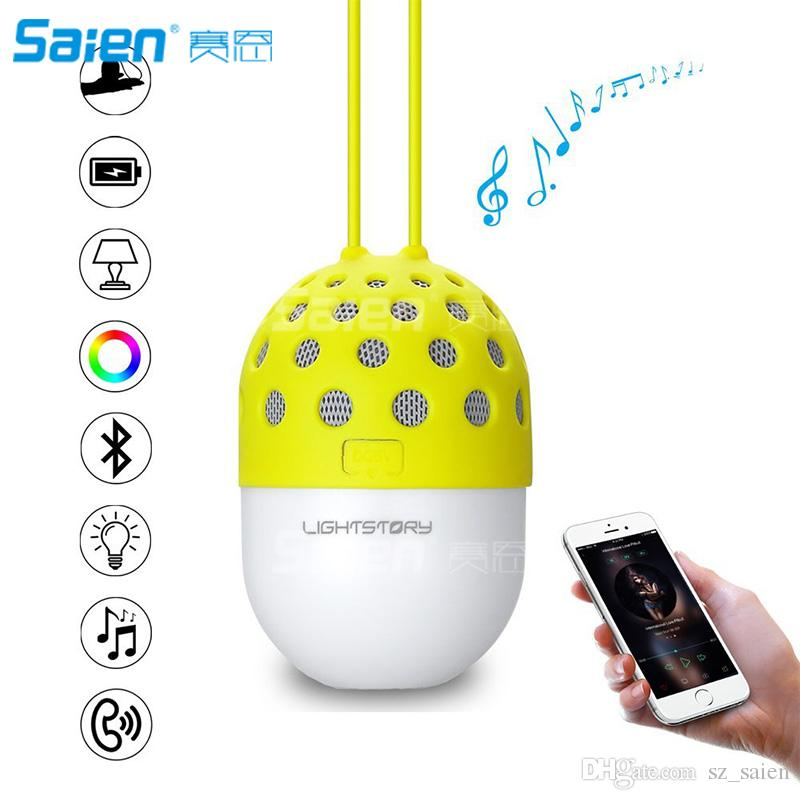 Bluetooth Portable Speaker with Color Changing LED Light, Outdoor Wireless Speakers with IPX4 Water Resistant for iPhone Android Smartphones
