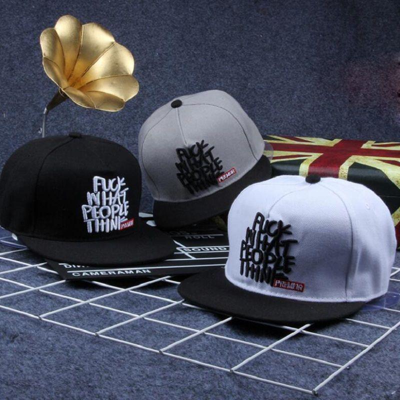 2017 Brand What People Think Ricamo Bone Snapback Premier Narrow Minded Berretto da baseball regolabile cappello piatto per le donne uomini