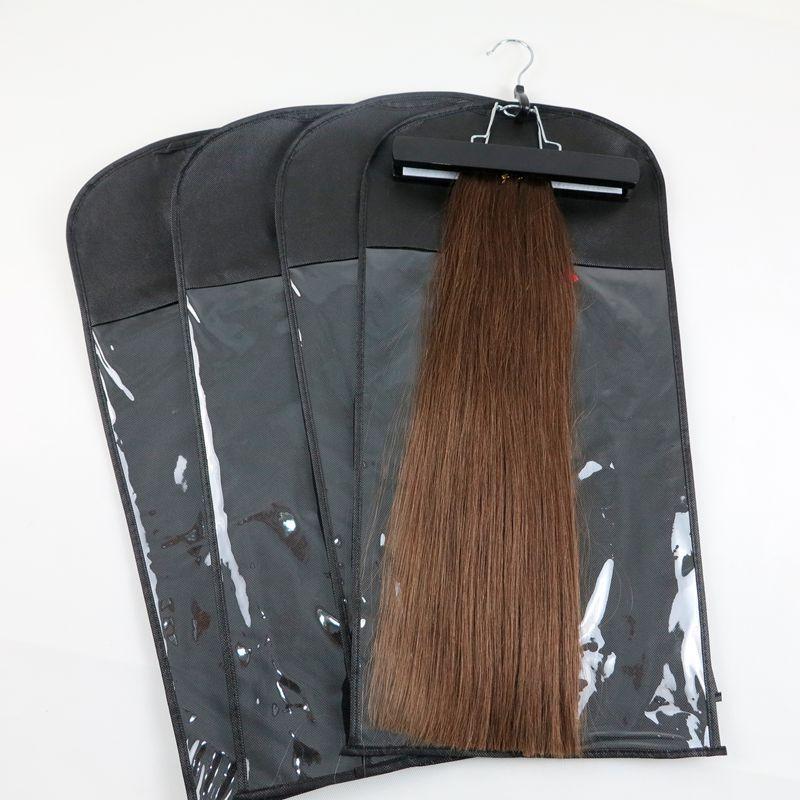 ملحقات الشعر التعبئة حقيبة الغبار حزمة حقيبة مع شماعات ل مقطع الشعر الإنسان لحمة أدوات الشعر professinal