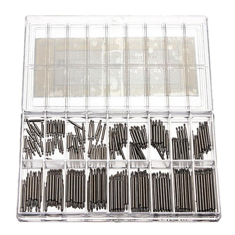 Hot 360 Pcs Stainless Steel Watch Spring Bars Strap Link Pins 8-25mm Watchmaker