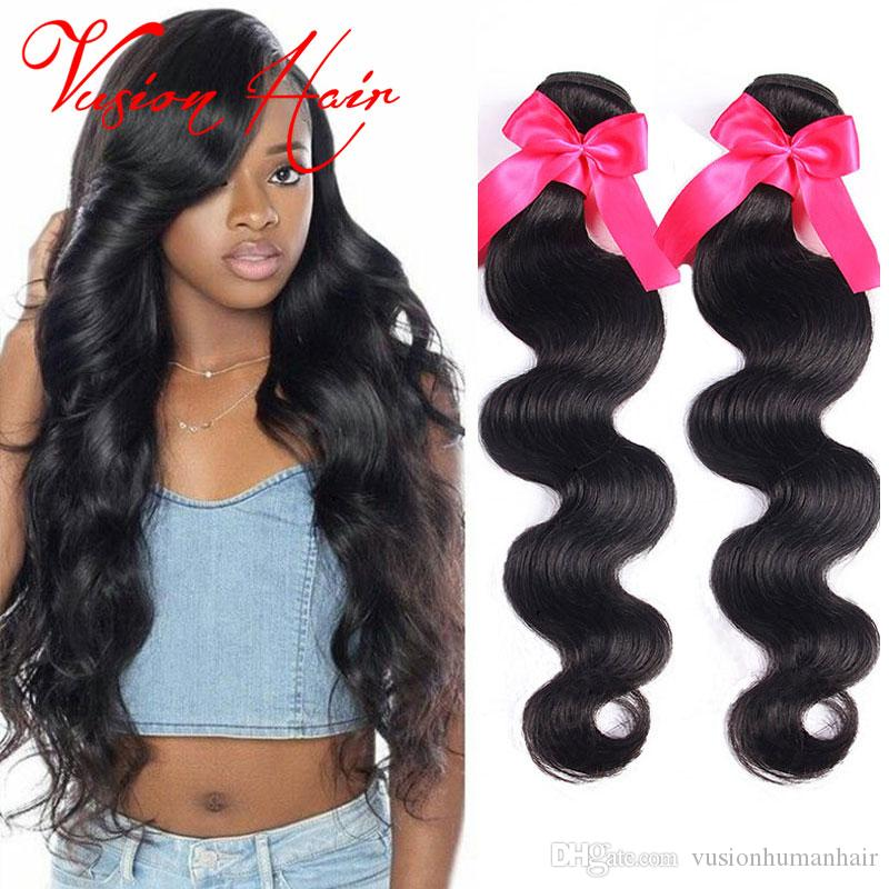 Brazilian Virgin Hair Bundles Body Wave Good Cheap Weaves 3Pcs Brazilian Human Hair Wet and Wavy Virgin Hair Weaves Natural Black Color