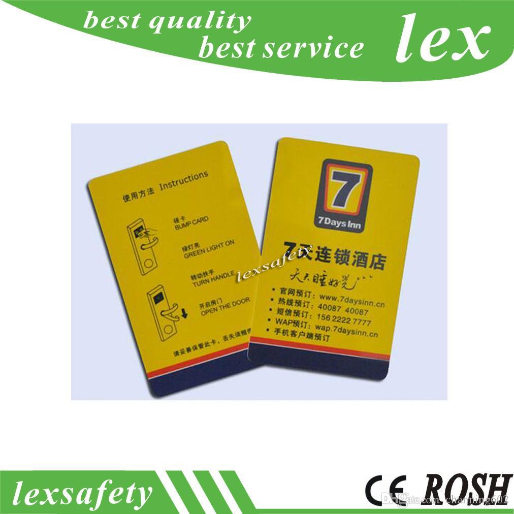 500pcs / lot RFID carte mince carte pvc TK4100 125KHz ISO11785 cartes d'identité intelligentes systèmes de porte d'entrée de carte