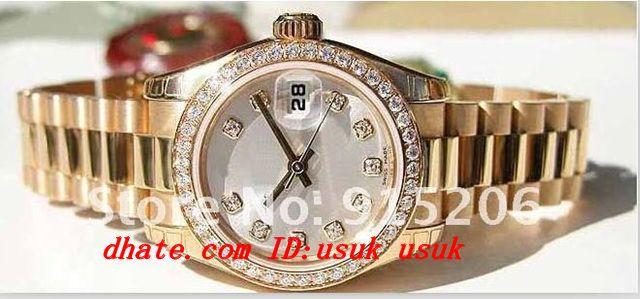 시계의 세계 럭셔리 럭셔리 패션 스타일 179138 레이디 기념일 다이아몬드 다이얼 여성 자동 스포츠 손목 시계