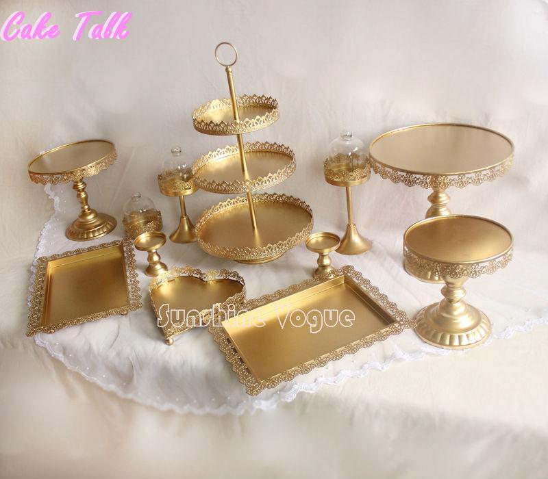 gold cake stand set (5)