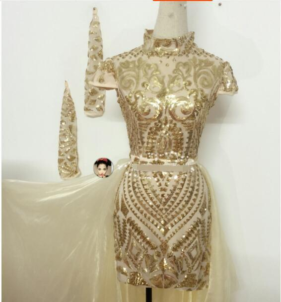 Trajes saia trajes de dança do sexo feminino saia de uma peça vestido de Jazz saia curta para o cantor dançarino desempenho bar boate ds ds show